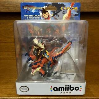 ニンテンドースイッチ(Nintendo Switch)の【送料無料】amiibo 隻眼のリオレウス&ライダー(ゲームキャラクター)