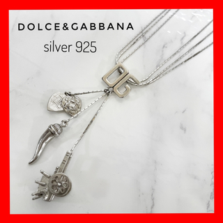 ドルチェアンドガッバーナ(DOLCE&GABBANA)のDOLCE&GABBANA ドルチェアンドガッバーナ 3連チャーム ネックレス(ネックレス)