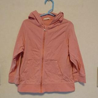 ジーユー(GU)のGU フルジップパーカー ピンク 女の子 110(ジャケット/上着)