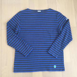 オーシバル(ORCIVAL)のORCIVAL オーシバル 青黒ボーダーバスクシャツ  サイズ5(Tシャツ/カットソー(七分/長袖))