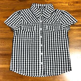 ギャルスター(GALSTAR)の美品 GALSTAR ギャルスター ギンガムチェック 半袖シャツ 黒 白(シャツ/ブラウス(半袖/袖なし))