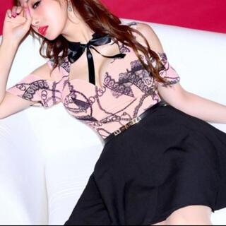 JEWELS - Jewels 黒ピンクドレス美品