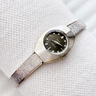 ラドー(RADO)のRADO 21石 カットガラス レディース手巻き腕時計 稼動品(腕時計)