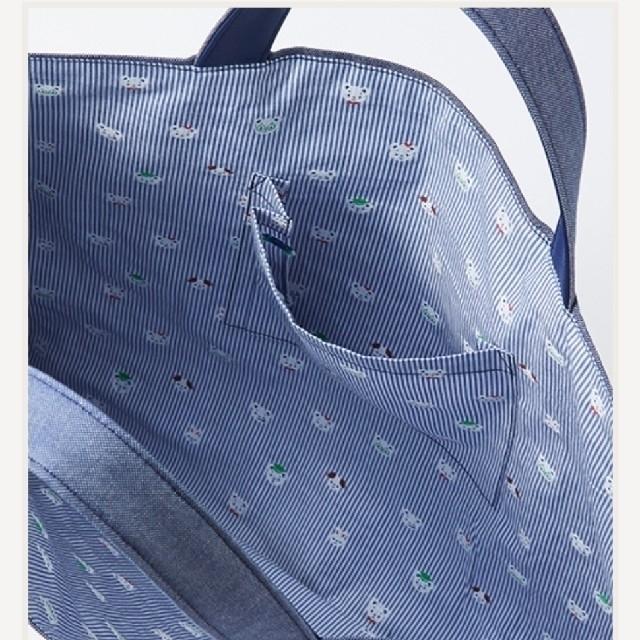 familiar(ファミリア)のファミリア デニムバッグ【F&L限定商品 】新品 キッズ/ベビー/マタニティのこども用バッグ(レッスンバッグ)の商品写真