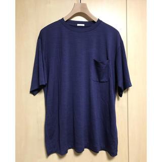 コモリ(COMOLI)のCOMOLI 21SS ウール天竺半袖クルー フレンチネイビー(Tシャツ/カットソー(半袖/袖なし))