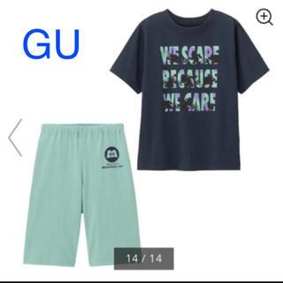ジーユー(GU)のGU パジャマ ラウンジセット 半袖 モンスターズインク(パジャマ)