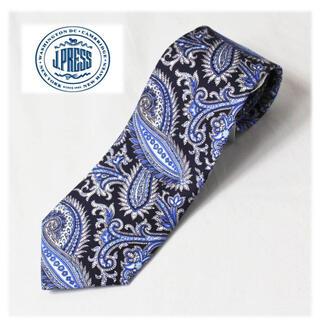 J.PRESS -  《ジェイプレス》新品 英国生地 ハンドメイド 絹100% ペイズリー柄ネクタイ