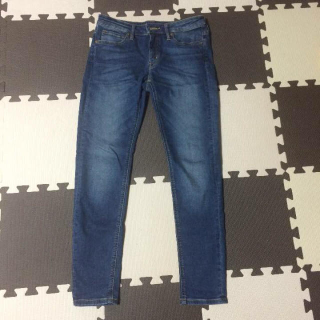 MUJI (無印良品)(ムジルシリョウヒン)の無印良品 オーガニックコットン混デニムスーパーストレッチスキニー アンクル丈 レディースのパンツ(デニム/ジーンズ)の商品写真