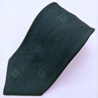 celine - CELINE セリーヌ ネクタイ ハイブランド 緑 総柄 マルチ 絹 シルク