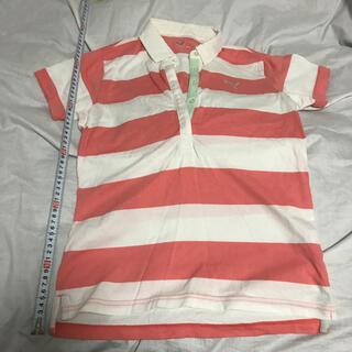 プーマ(PUMA)のポロシャツ プーマ PUMA ストライプ 襟付きTシャツ ピンク(ポロシャツ)