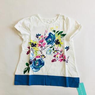 ハッカキッズ(hakka kids)の値下げ 新品 ハッカキッズ 水彩タッチ 花柄 チュニック  Tシャツ 110(Tシャツ/カットソー)