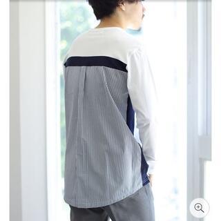 アロイ(ALOYE)のALOYE ロングスリーブ Tシャツ 20FW ネイビー L BEAMS T(Tシャツ/カットソー(七分/長袖))
