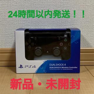 プレイステーション4(PlayStation4)の新品未開封! ps4 純正コントローラー 黒色 (その他)