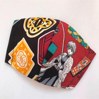 24-1 ブラック レッド 子供立体インナーマスク(外出用品)