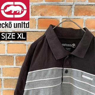 エコーアンリミテッド(ECKO UNLTD)の【ecko unltd.】 エコーアンリミテッド ポロシャツ XL 金属製ロゴ(ポロシャツ)