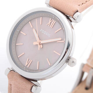 フォッシル(FOSSIL)のFOSSIL腕時計 レディース カーリー ミニ クォーツ シェル文字盤 ベージュ(腕時計)