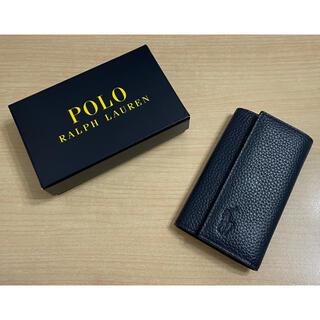 ポロラルフローレン(POLO RALPH LAUREN)のPOLO RALPH LAUREN キーケース カード入れ付き ネイビー(キーケース)