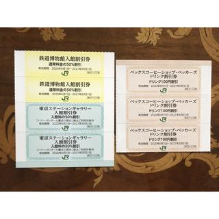 ベックスコーヒー&鉄道博物館入館50%割引券 &東京ステーションギャラリー (美術館/博物館)