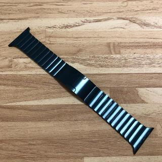 アップル(Apple)の極上美品 apple watch 38mm リンクブレスレット スペースブラック(金属ベルト)
