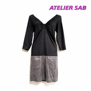 アトリエサブ(ATELIER SAB)のATELIER SAB アトリエサブ・バイカラーワンピース(ひざ丈ワンピース)