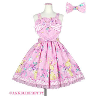 アンジェリックプリティー(Angelic Pretty)のTOY FANTASY エプロン風スカート ピンク(ひざ丈スカート)