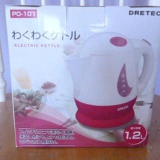 【新品】DRETEC ドリテック ケトル/ピンク(調理機器)