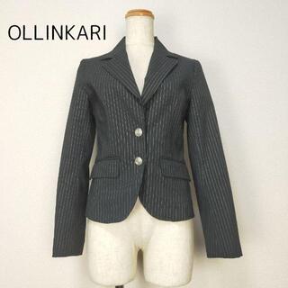 オリンカリ(OLLINKARI)の【オリンカリ OLLINKARI】レディースストライプジャケット ブラック 36(テーラードジャケット)