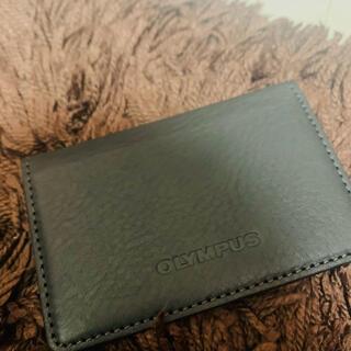 OLYMPUS オリンパス カードケース 名刺入れ 本革 レザー