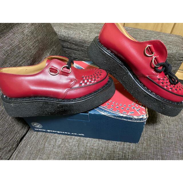 GEORGE COX(ジョージコックス)の【新品未使用】GEORGE COX ジョージコックス ラバーソール 赤 メンズの靴/シューズ(ブーツ)の商品写真