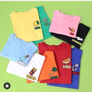 プニュズ(PUNYUS)のプニュズ フードサガラ刺繍T エビ(Tシャツ(半袖/袖なし))