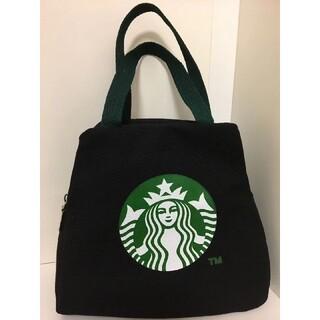 スターバックスコーヒー(Starbucks Coffee)の【スターバックス】バントバッグ ミニ手提げバッグ キャンバスバッグ ブラック(ハンドバッグ)