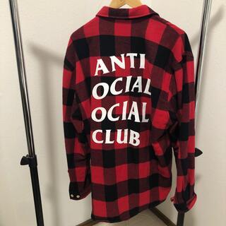 アンチ(ANTI)のAnti Social Social Club フランネル 赤L(その他)