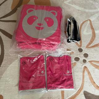 フードパンダ デリバリーバッグ ロングスリーブシャツs2枚(バッグ)