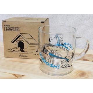 スヌーピー(SNOOPY)のスヌーピー PEANUTS 耐熱ガラス マグ ブルー 海 サーフィン(グラス/カップ)