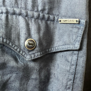ガス(GAS)のGas jeans リネンシャツ blue shadow XL(シャツ)
