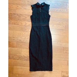 ザラ(ZARA)の新品 Mango マンゴー レースワンピース ブラック 黒 ドレス(その他)