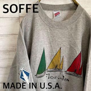 アンソフィーバックバック(ANN-SOFIE BACK/BACK)のUSA製 SOFFE フロリダ スウェット トレーナー メンズXL グレー 古着(スウェット)