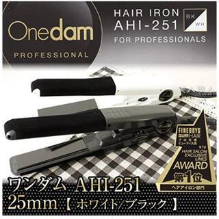 Onedam ワンダム ヘアアイロン AHI-251 ブラック(ヘアアイロン)