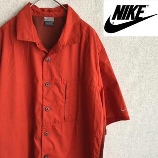 ナイキ(NIKE)の90s NIKE ナイロン 半袖 シャツ XLサイズ ナイキ 90's 古着(シャツ)