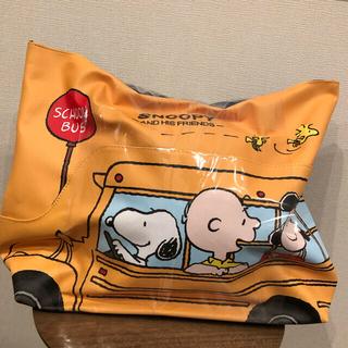 スヌーピー(SNOOPY)のスヌーピー 新品 バニティポーチ バッグ タグ付き 非売品 ラウンドワン(キャラクターグッズ)