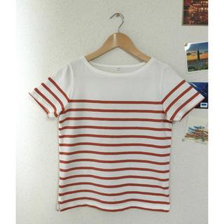 ムジルシリョウヒン(MUJI (無印良品))の無印良品 オーガニック ボーダー Tシャツ(Tシャツ(半袖/袖なし))