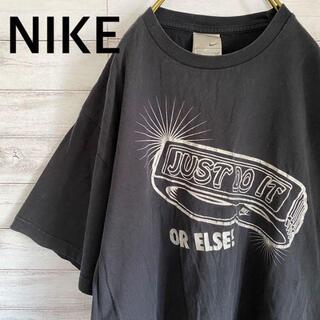 ナイキ(NIKE)のナイキ NIKE デザインTシャツ 半袖 メンズL ブラック 古着(Tシャツ/カットソー(半袖/袖なし))