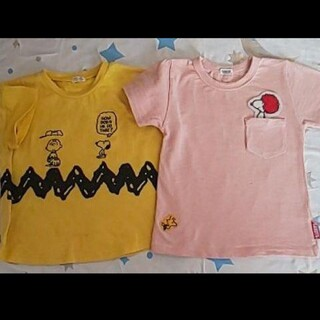 ピーナッツ(PEANUTS)のスヌーピー Tシャツ 二枚セット 100(Tシャツ/カットソー)