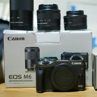 Canon - CANON EOS M6 ダブルズームレンズキット+単焦点