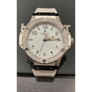 ウブロ(HUBLOT)の数回極美 定価122万 ウブロ ビッグバン ホワイト 126粒 ダイヤ 361(腕時計)