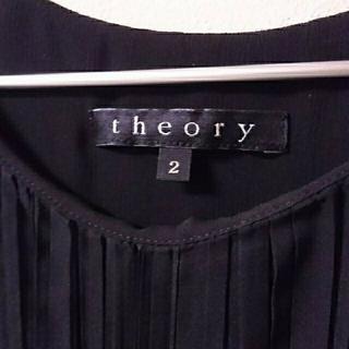 セオリー(theory)のtheory ブラックミニドレス(ミニワンピース)