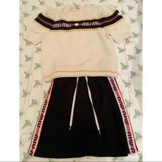 ミュウミュウ(miumiu)のmiumiu サマーニット&ジャージースカートセット 36サイズ(セット/コーデ)