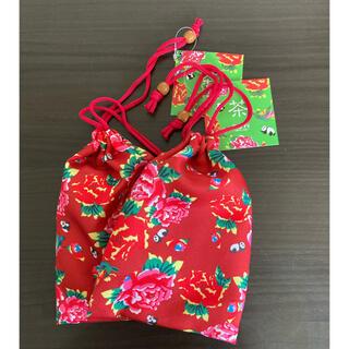 KALDI - 【新品】KALDI 台湾 客家柄巾着 2袋