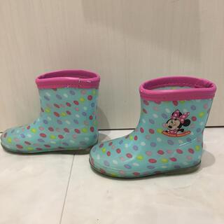 ディズニー(Disney)のミニー長靴 15㎝(長靴/レインシューズ)