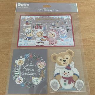 ディズニー(Disney)のダッフィー ポストカード グリーティングカード(カード/レター/ラッピング)